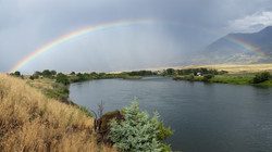 Rainbow over the Yellowstone River in Paradise Valley