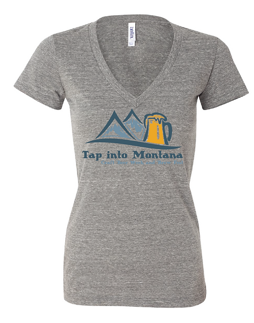 Tap into Montana Women's Grey Triblend Tee