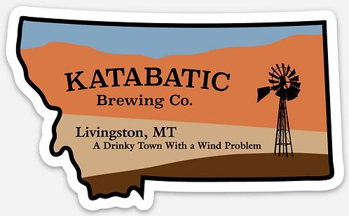 Katabatic Die Cut Sticker