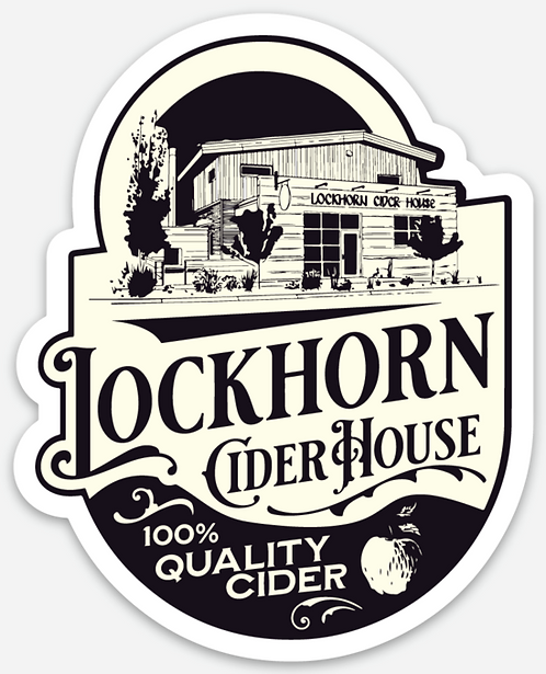 Lockhorn Cider House Die Cut Sticker