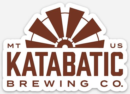 Katabatic Brewing Die Cut Logo Sticker