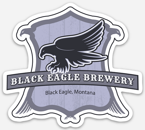 Black Eagle Die Cut Sticker