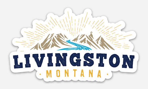 Livingston Shining Mountains Sticker