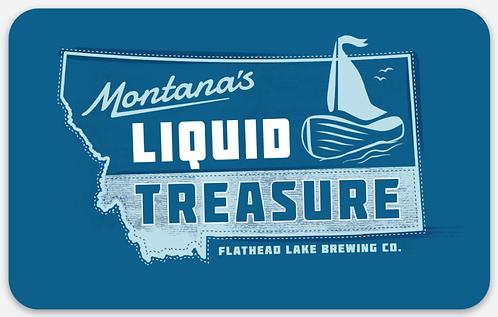 Flathead Lake Brewing Liquid Treasure Sticker