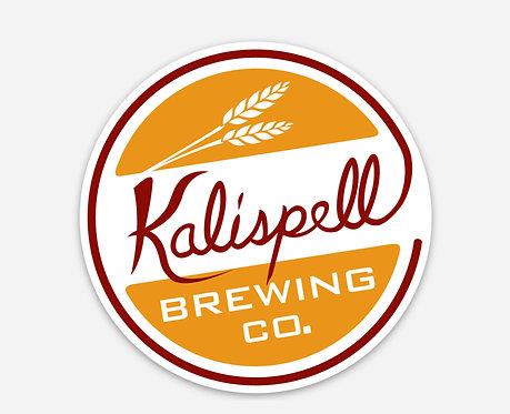 Kalispell Brewing Round Logo Sticker