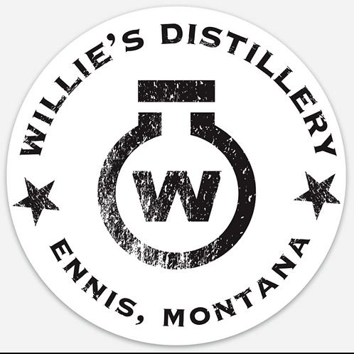 Willie's Distillery Circle Sticker
