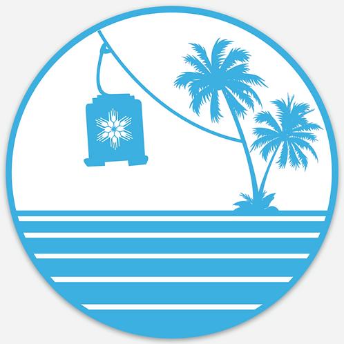 Beehive Basin Tram Island Sticker