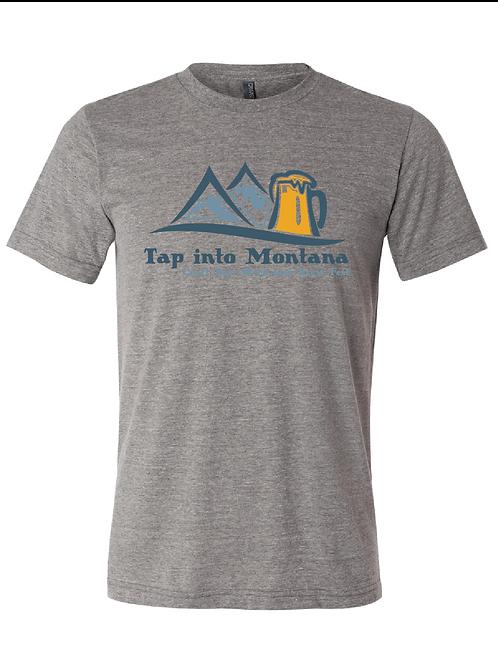 Tap into Montana Unisex Grey Triblend Tee