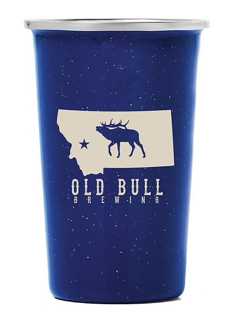 Old Bull Brewing Stainless Pint