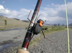 Close up of Mormon Cricket Imitation on Soda Butte Creek; YNP