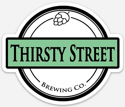 Thirsty Street Die Cut Sticker