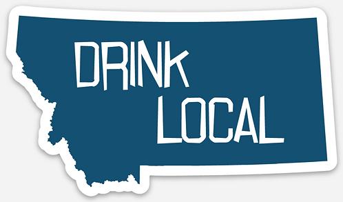 Drink Local Die Cut Sticker