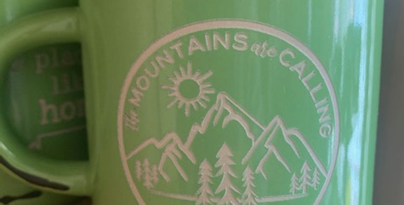 Spark Mug - The Mountains Are Calling