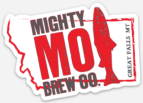 Mighty Mo Montana Die Cut Sticker