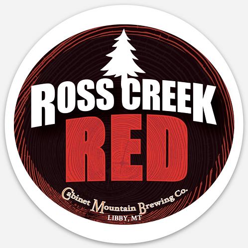 Ross Creek Red Sticker