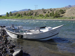 Drift boat on the Yellowstone River