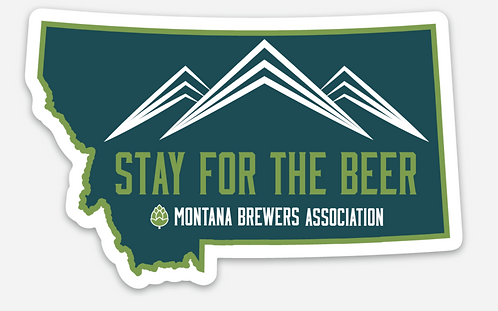 MBA Stay for the Beer MT Die Sticker