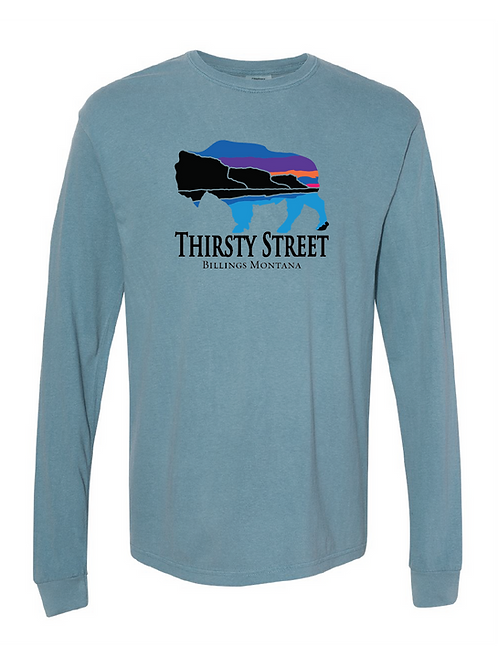Thirsty Street Bison Long Sleeve Shirts