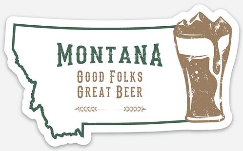 Montana Good Folks Great Beer Sticker