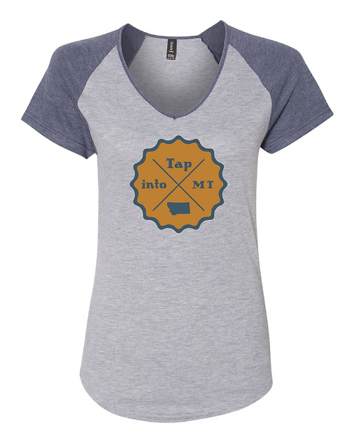 Tap into Montana Women's V-Neck Colorblock Tee