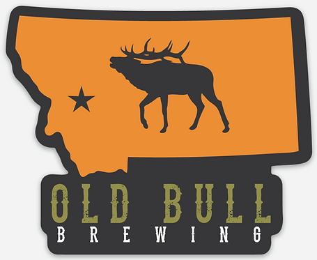 Old Bull Brewing Die Cut Sticker