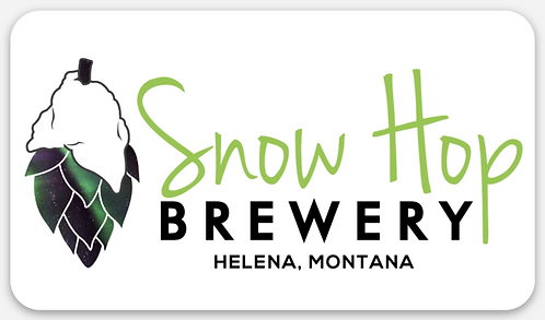 Snow Hop Sticker