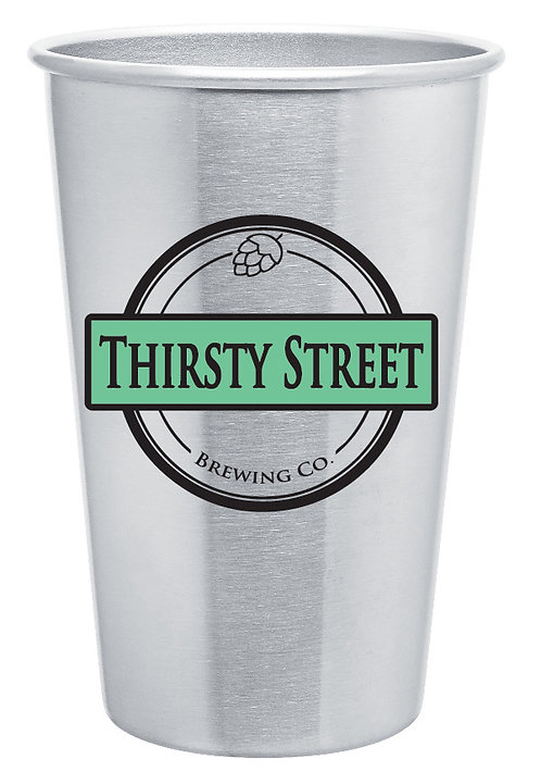 Thirsty Street Stainless Steel Pint