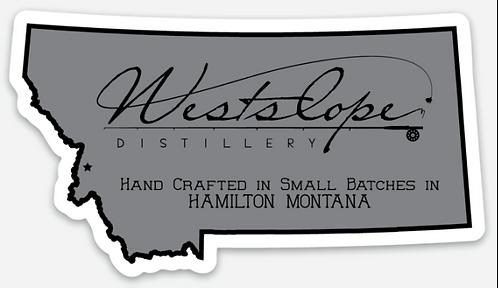Westslope Distillery Die Cut Sticker