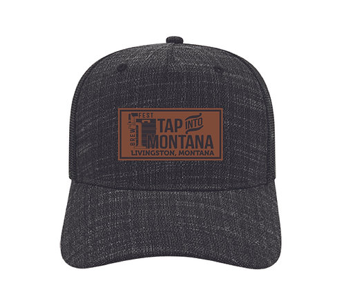 Tap into Montana Leather Patch Hat