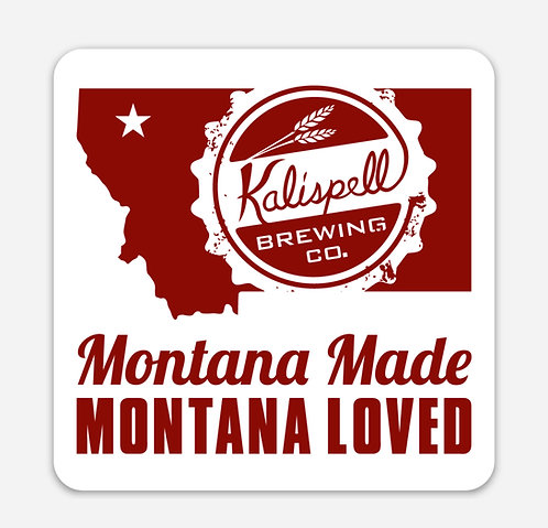 Kalispell Brewing MT Made Rectangle Sticker