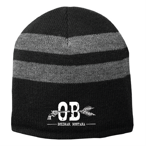Outlaw Brewing Striped Beanie