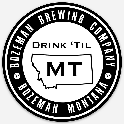 Bozeman Brewing Drink til MT Sticker