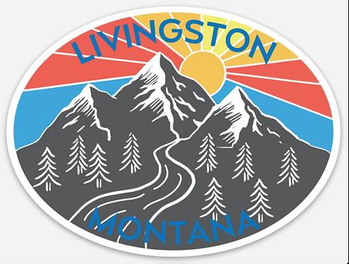 Livingston Mountain Sunshine Sticker