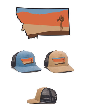 Katabatic MT Shape Sunset Patch Hat Mock
