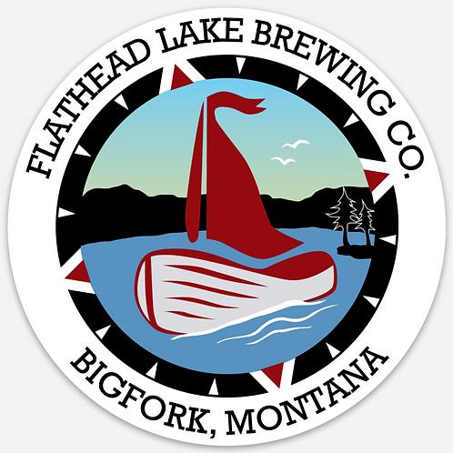 Flathead Lake Brewing Logo Sticker