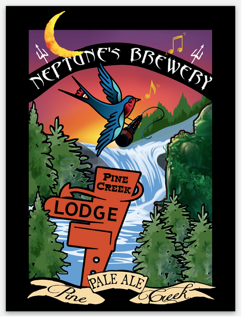 Neptune's Pine Creek Pale Ale Sticker