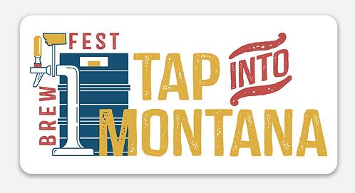 Tap into Montana Rectangle Sticker
