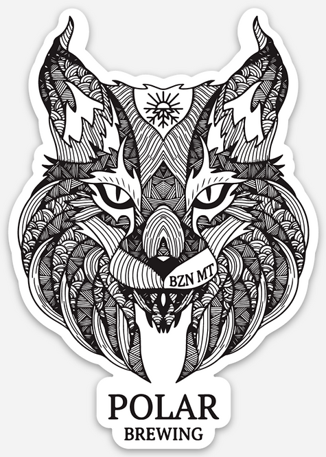 Polar Brewing Lynx Sticker