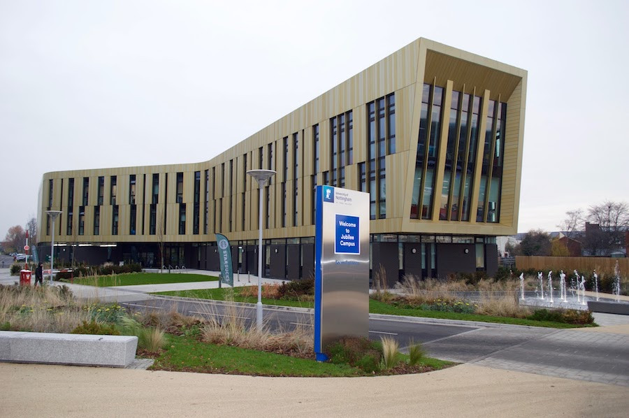 Exterior image of the AMB at the University of Nottingham