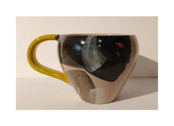 Cup with handle / tazza con manico collezione 'Dipingo'