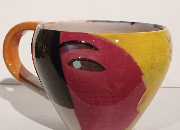 Cup /Tazza con manico, collezione dipingo . Pezzo unico