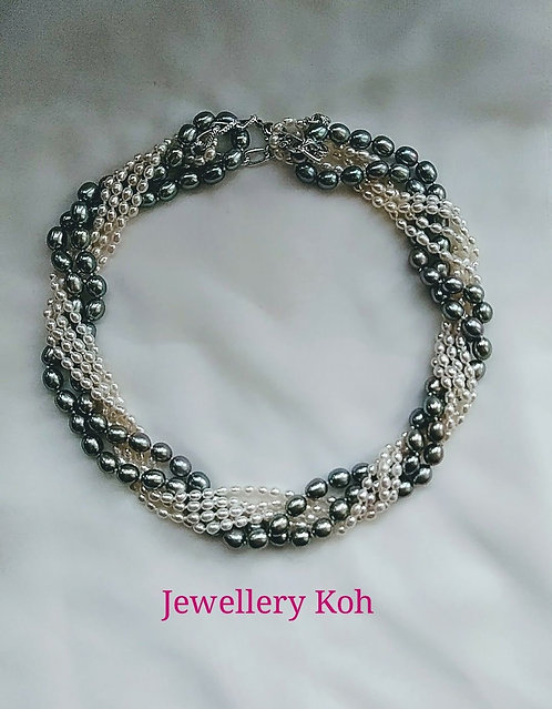 Chinese Fresh Water Pearl Necklaces 3sts