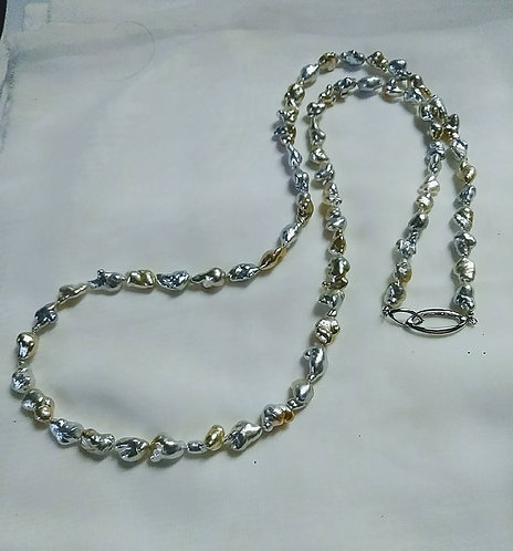 South Sea Natural Pearl Long Necklace