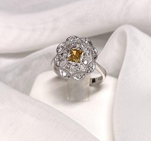 Plutinum 900 Diamond Ring