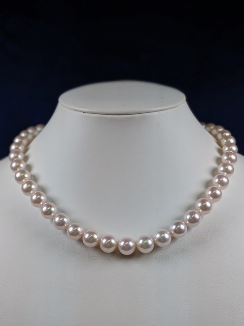 Akoya Pearl(Japanese Cultured Pearl) Necklace 9.5-10mm