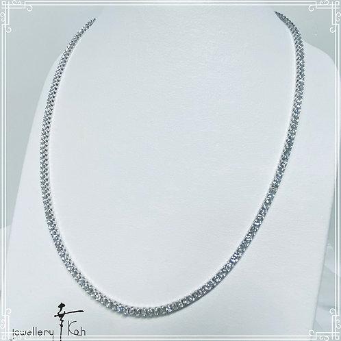 K18 white gold Diamond Necklace