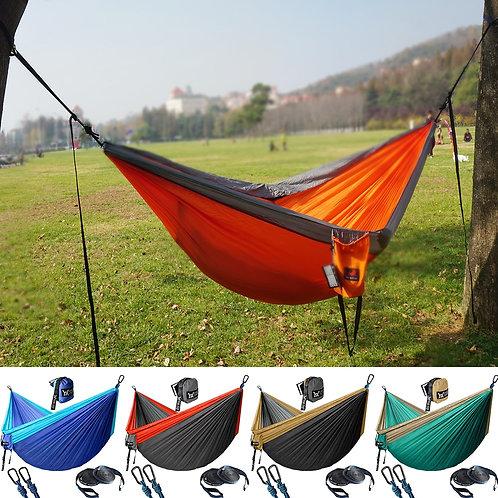 Portable Parachute Nylon Hiking Hammock for Backpacking Travel