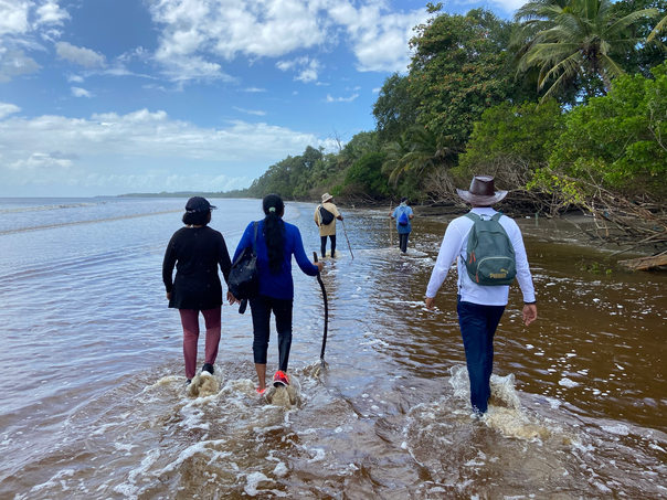 Beach Walking in the Southern Coast of Trinidad