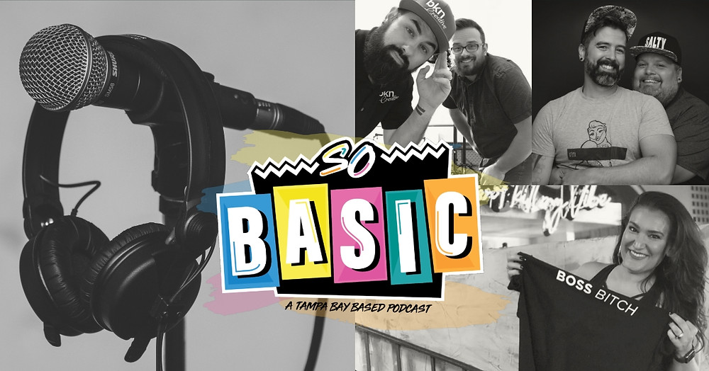 The hosts of So Basic Podcast