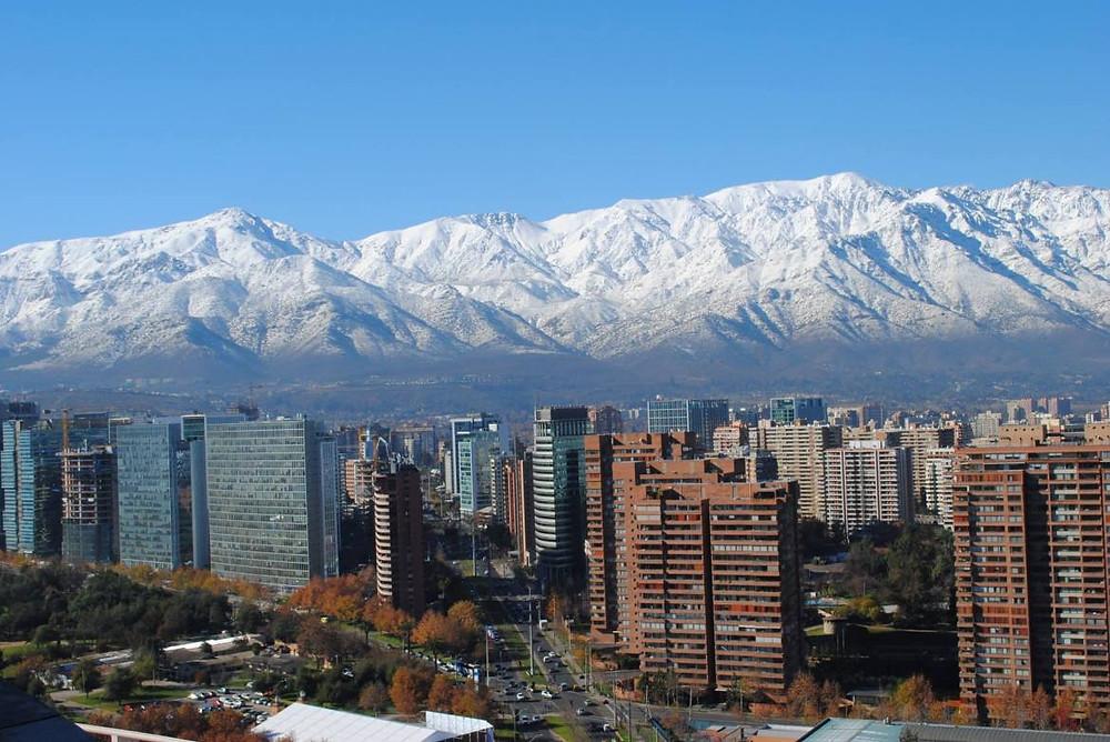 Santiago de Chile, Nevado, Nieve. El Oriente de la Ciudad, Cordon de Rabon, Turismo Santiago,